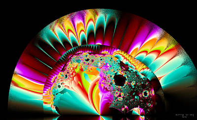 Digital Art - Hand Fan by Betsy Jones