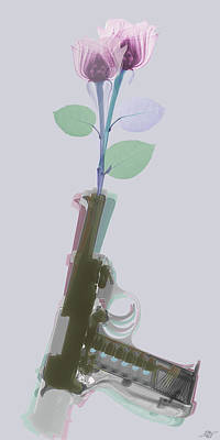 Hand Gun And Flower X-ray 3 Original