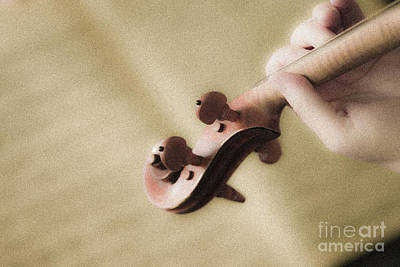 Photograph - Hand Holding A Violin. by Don Landwehrle