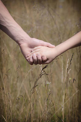 Holding Photograph - Hand In Hand by Joana Kruse