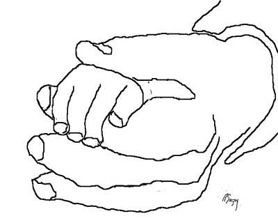 Hand In Hand Art Print by R  Allen Swezey