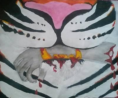 Hand In Mouth Art Print by Kendya Battle
