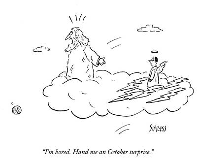 Boredom Drawing - Hand Me An October Surprise by David Sipress