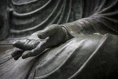 Buddhism Photograph - Hand Of Buddha - Japanese Tea Garden by Adam Romanowicz