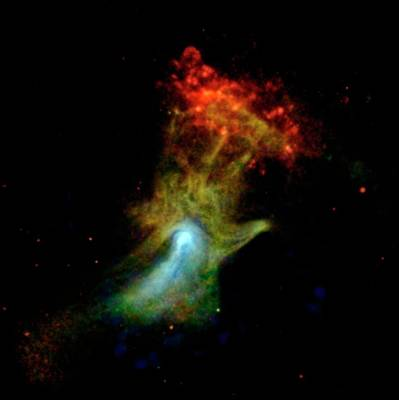 Hand Of God Pulsar Wind Nebula Art Print by Nasa/jpl-caltech/mcgill