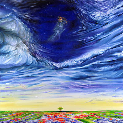 Gostanza Painting - Hand Of God by Teresa Gostanza