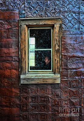 Hand On Old Window Art Print by Jill Battaglia