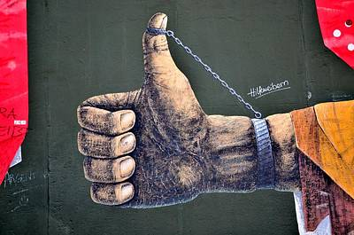 Hand On The Berlin Wall Art Print by Gynt