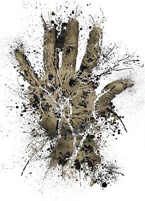 Human Body Hand Grunge Paint Ink Splatter  Art Print by Andy Gimino