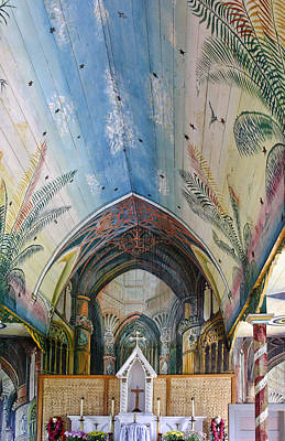 Hand Painted Church Interior Art Print