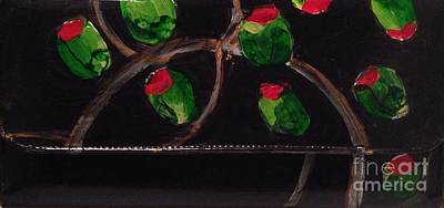 Martini Paintings - Hand Painted Clutch Purse 2 by Sherry Harradence