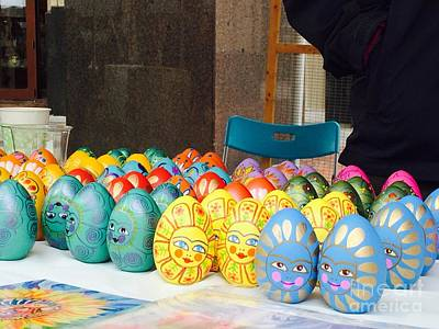 Photograph - Hand Painted Eggs- 2014 by Shirin Shahram Badie