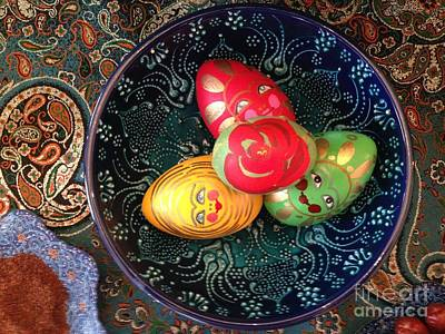 Photograph - Hand Painted Eggs- Arezoo by Shirin Shahram Badie