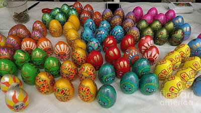 Tapestry - Textile - Hand Painted Eggs by Shirin Shahram Badie