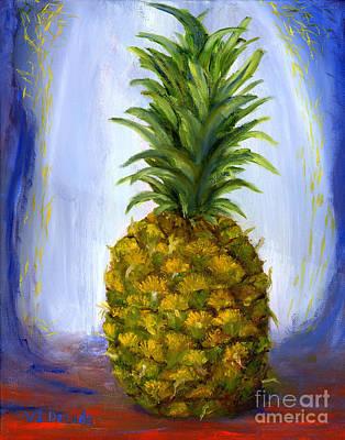 Hand Painted Pineapple Fruit  Art Print
