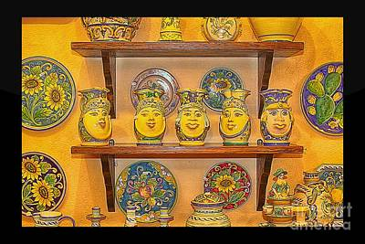 Ceramics Photograph - Hand-painted Souvenir From Sicily by Stefano Senise