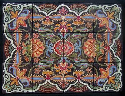 Hand Painted Tiles Original by Glenda Stevens