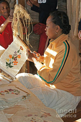 Photograph - hand papermaking in Madagascar 3 by Rudi Prott