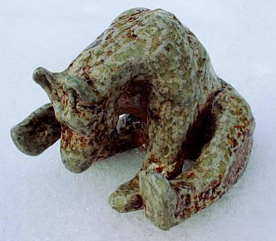 Hand Sculpted Bear Original by Wesley Sarmento