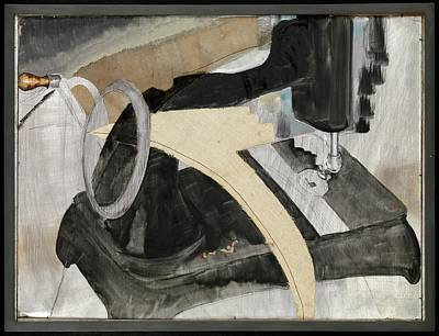 Metal Sheet Painting - Hand Sewing Machine by Arthur Dove