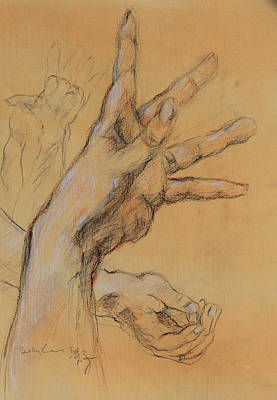 Drawing - Hand Study 1 by Becky Kim