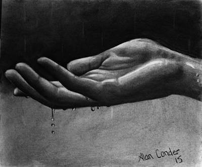 Drawing - Hand Study #2 by Alan Conder