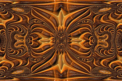 Hand-tooled Print by Wendy J St Christopher