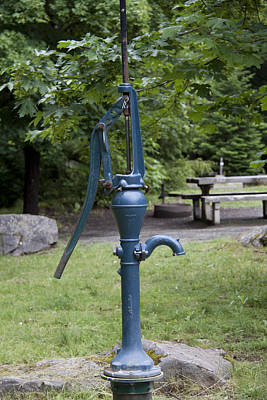 Photograph - Hand Water Pump 03 by S and S Photo