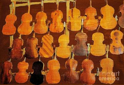 Photograph - Handcarved Fiddles by Janette Boyd