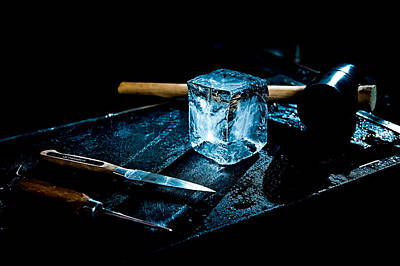 Handcrafted Icecube Print by Wolfgang Simm