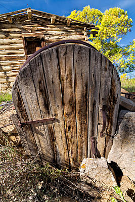 Photograph - Handcrafted Root Cellar Door by Kathleen Bishop