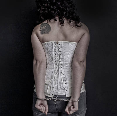 Abuse Mixed Media - Handcuffed by Gina Dsgn