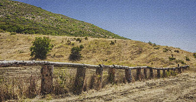 Photograph - Handcut Fence by Karen Stephenson