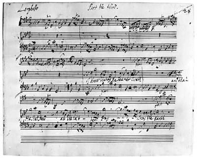 Autographed Painting - Handel Music Sheet by Granger