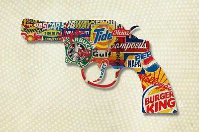 Digital Art - Handgun Logos by Gary Grayson