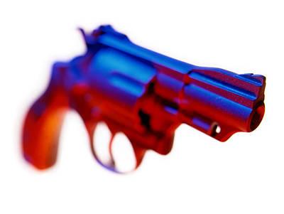 Handgun. Print by Mark Preston