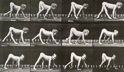 Handicapped Boy Crawling Art Print by Eadweard Muybridge