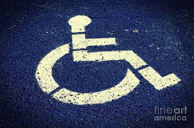 Photograph - Handicapped Parking Space by Tikvah's Hope