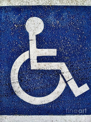 Photograph - Handicapped Symbol by Bryan Mullennix