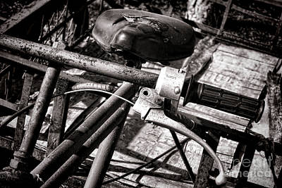 Corrosion Photograph - Handlebar by Olivier Le Queinec