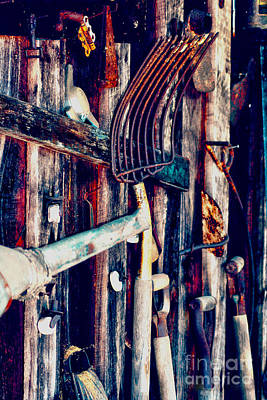 Art Print featuring the photograph Handles And The Pitchfork by Lesa Fine