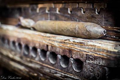 Handmade Cigars Art Print by Carlos Ruiz