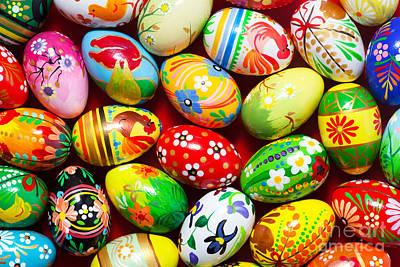 Slavic Photograph - Handmade Easter Eggs Background by Michal Bednarek