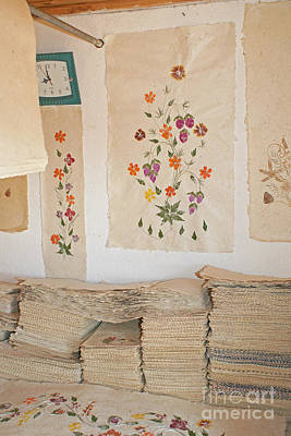 Photograph - handmade paper from Madagascar 1 by Rudi Prott