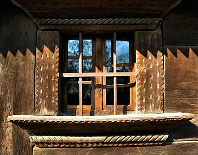 Photograph - Handmade Wood Window by Daliana Pacuraru