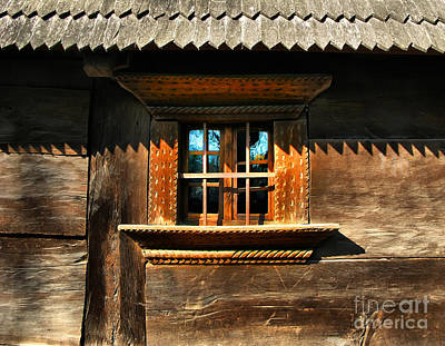 Photograph - Handmade Wooden Window by Daliana Pacuraru