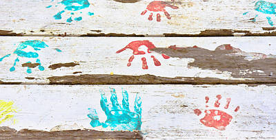 Handprints Art Print by Tom Gowanlock