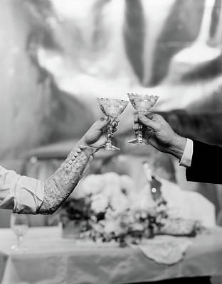 Of Liquor Photograph - Hands & Arms Of A Bride And Groom by Vintage Images