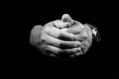Anticipation Photograph - Hands by Alexey Stiop