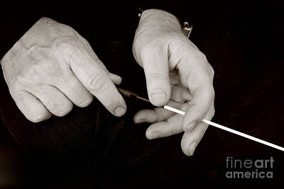 Photograph - Hands And Baton by J Christopher Briscoe
